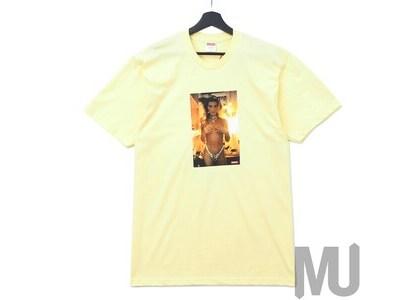Supreme Nan Goldin Kim in Rhinestone Tee Pale Yellowの写真