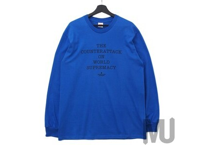 Supreme UNDERCOVER Public Enemy Counterattack L/S Tee Royalの写真