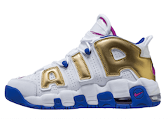 AIR MORE UPTEMPO WHITE/GOLD/BLUEの写真