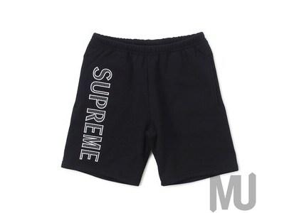 Supreme Leg Embroidery Sweatshort Blackの写真
