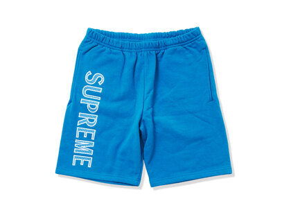 Supreme Leg Embroidery Sweatshort Dark Aquaの写真