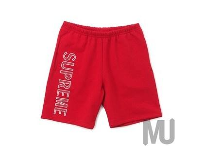 Supreme Leg Embroidery Sweatshort Redの写真