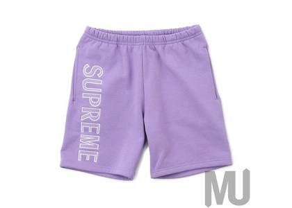 Supreme Leg Embroidery Sweatshort Violetの写真