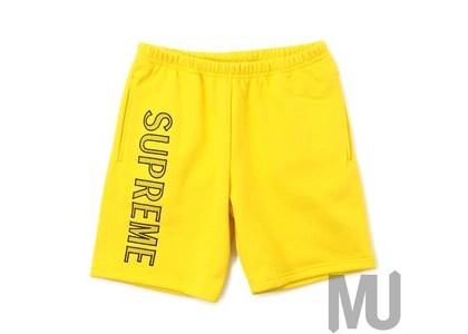 Supreme Leg Embroidery Sweatshort Yellowの写真