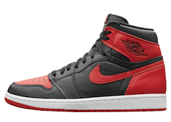 JORDAN 1 RETRO HOMAGE TO HOMEの写真