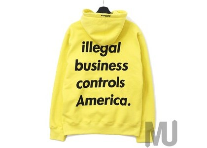 Supreme Illegal Business Hooded Sweatshirt Lemonの写真