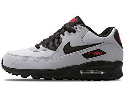 Nike Air Max 90 Wolf Grey Black Redの写真