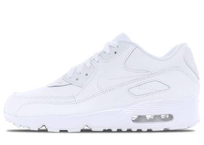 Nike Air Max 90 Leather Triple White (GS)の写真
