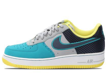 Nike Air Force 1 Low Wolf Grey Midnight Navy Tropical Tealの写真