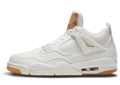 Levi's × Nike Air Jordan 4 Retro White GSの写真