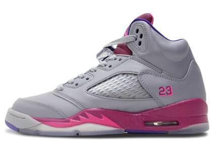 Nike Air Jordan 5 Retro Cement Grey Pink GSの写真