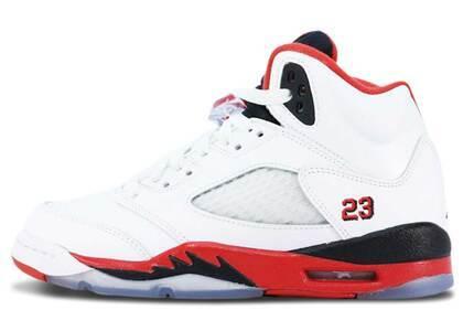 Nike Air Jordan 5 Retro Fire Red Black Tongue GS (2013)の写真