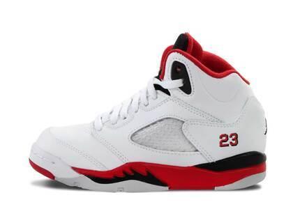 Nike Air Jordan 5 Retro Fire Red Black Tongue PS (2013)の写真