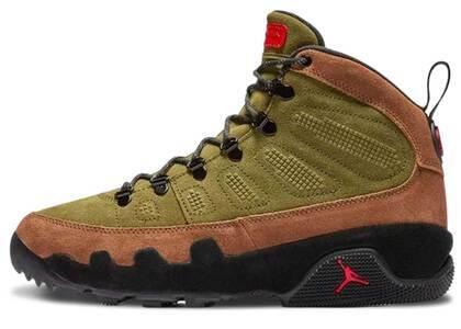 Nike Air Jordan 9 Retro Boot Military Brownの写真