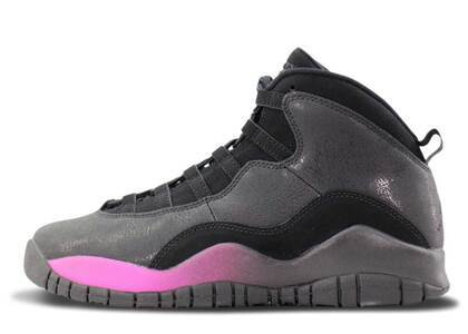 Nike Air Jordan 10 Retro Black Fuchsia Black GSの写真