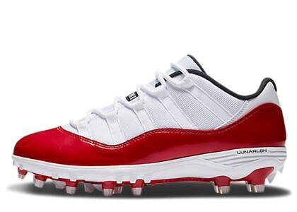 Nike Air Jordan 11 Retro Low Cleat White Redの写真