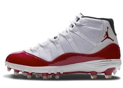Nike Air Jordan 11 Retro Cleat White Redの写真