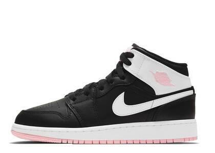 Nike Air Jordan 1 Mid Arctic Pink Black GSの写真