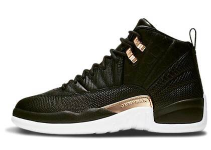 Nike Air Jordan 12 Retro Black Metallic Gold White Womensの写真