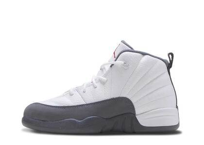 Nike Air Jordan 12 Retro White Dark Grey PSの写真