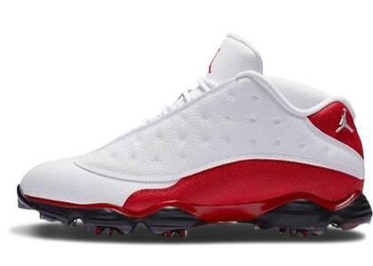Nike Air Jordan 13 Retro Golf Cleat White Redの写真