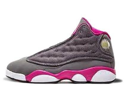 Nike Air Jordan 13 Retro Cool Grey Fusion Pink GSの写真