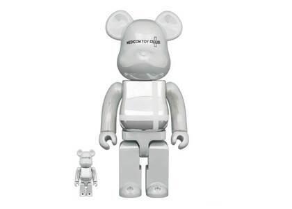 Be@rbrick Medicom Toy Plus White chrome Ver. 100% & 400%の写真