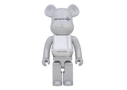 Be@rbrick Medicom Toy Plus White chrome Ver. 1000%の写真