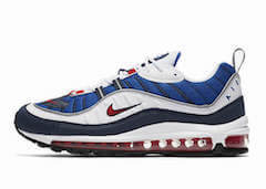 AIR MAX 98 WHITE/UNIVERSITY RED-OBSIDAN (2018)の写真