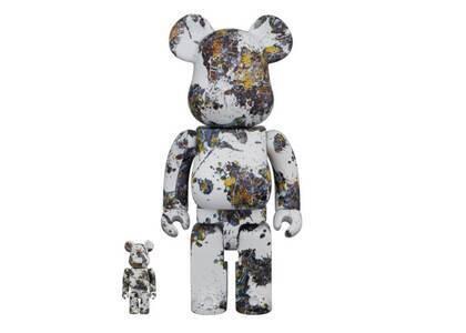 Be@rbrick Jackson Pollock Studio Splash 100% & 400%の写真
