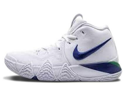 Nike Kyrie 4 White Deep Royal Blueの写真