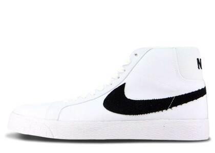 Nike SB Blazer Mid Canvas White Blackの写真