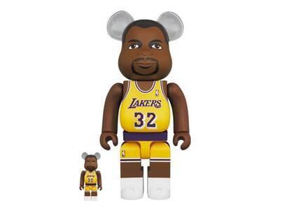 Be@rbrick Magic Johnson Los Angeles Lakers 100% & 400%の写真