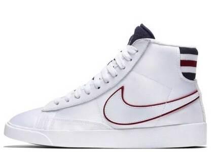 Nike Blazer Mid White Blackened Blue Red Crush Womensの写真