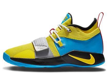Nike PG 2.5 Opti Yellow Blue Hero GSの写真