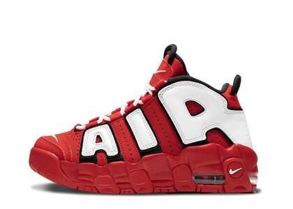 Nike Air More Uptempo University Red Black White PSの写真