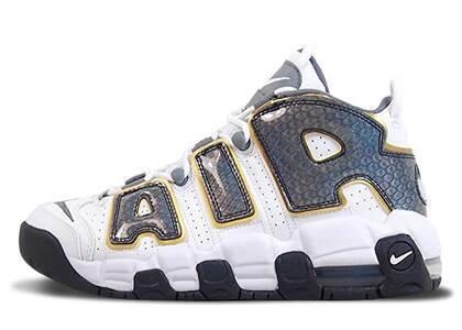 Nike Air More Uptempo White Anthracite Snakeskin GSの写真