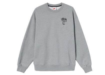 Stussy × Nike  Fleece Crew Sweatshirt Gray (2021)の写真