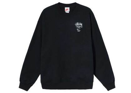 Stussy × Nike Fleece Crew Sweatshirt Black (2021)の写真