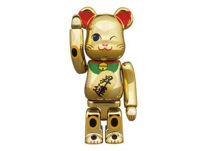 Be@rbrick Maneki Neko Gold Advancement Luminous 2 100%の写真