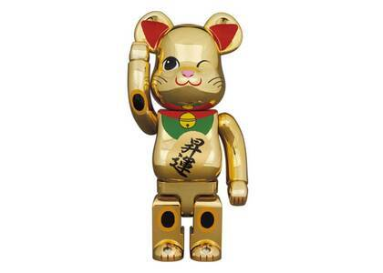Be@rbrick Maneki Neko Gold Advancement Luminous 2 400%の写真