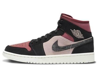 Nike Air Jordan 1 Mid Burgundy Dusty Pink Womensの写真