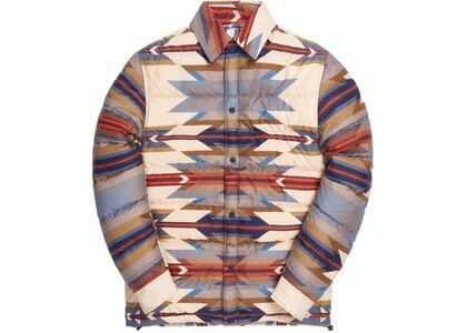 Kith for Pendleton Brave Star Puffer Shirt Jacket Tan/Multiの写真