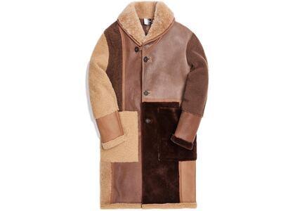 Kith Shearling Patchwork Becker Coat Tan/Multiの写真