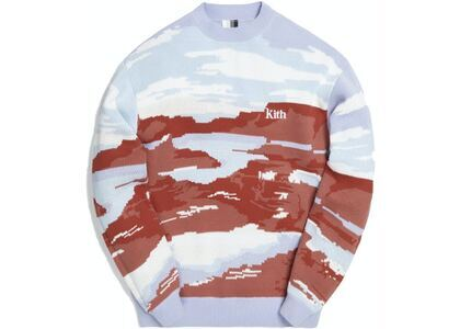 Kith Canyon Point Crewneck Sweater Mauve/Multiの写真