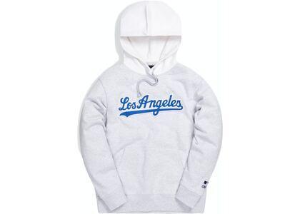 Kith For Major League Baseball Los Angeles Dodgers Script Hoodie Light Heather Greyの写真