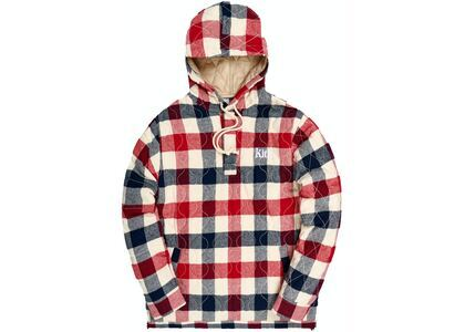 Kith Watts Flannel Quilted Hoodie Ivory/Multiの写真