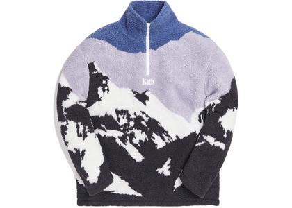 Kith Claremont Sherpa Quarter Zip Blue/Multiの写真