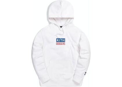 Kith For Major League Baseball Los Angeles Dodgers Logo Script Hoodie Whiteの写真