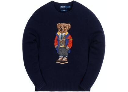 Kith x Polo Ralph Lauren Outdoor Bear Crewneck Navyの写真